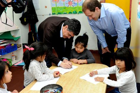 Jorge Macri y Julio Garro visitaron la Casa del Niño de La Plata