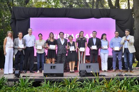Jorge Macri reconoció la labor social de empresas instaladas en Vicente López