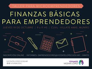 19/10 | Taller #MicroEmprendedores | Finanzas básicas para emprendedores
