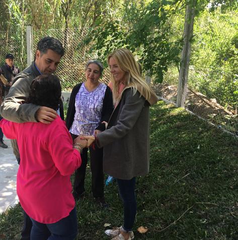 Jorge Macri, Marina Klemensiewicz y Soledad Martinez celebraron el Día del Hábitat en El Ceibo