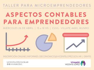 26/04   Aspectos contables para emprendedores #microemprendedores