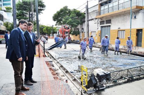 Jorge Macri y Gustavo Posse recorrieron las obras de la calle Paraná