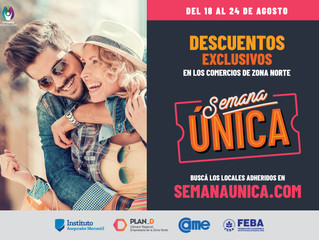 Del 18/08 al 24/08 descuentos exclusivos en #SemanaÚnica  - #CentrosComerciales