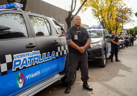 Las patrullas municipales se suman a la difusión de medidas preventivas en Vicente López