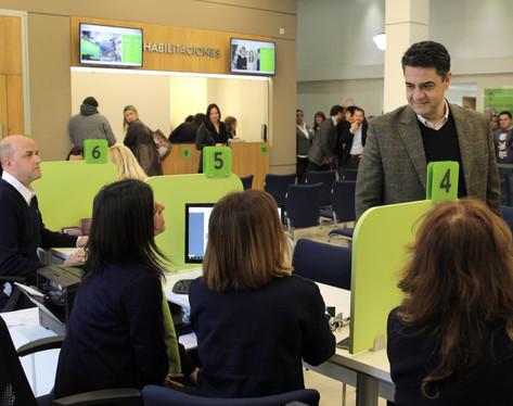 Jorge Macri presentó el renovado hall central del palacio municipal