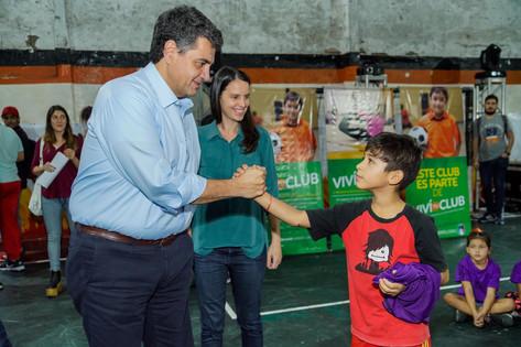 """""""Viví tu club"""": Jorge Macri presentó un programa que acerca el deporte a cientos de chicos"""