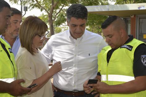 Jorge Macri y Patricia Bullrich presentaron cámaras y sistema de alerta para el Paseo de la Costa