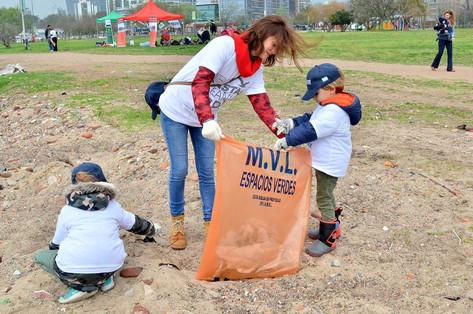 Vicente López fue parte del Día Mundial de la Limpieza