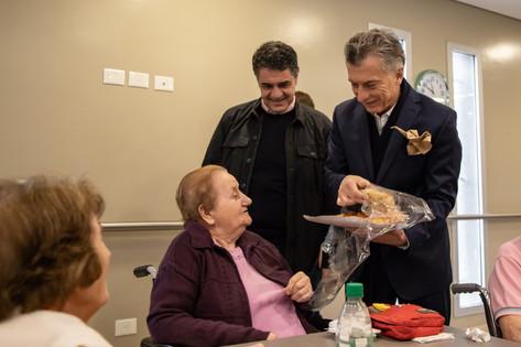 Visitamos nuestro Hospital Geriátrico con Mauricio Macri
