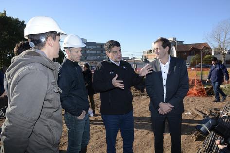 Jorge Macri recorrió las obras hidráulicas de La Plata