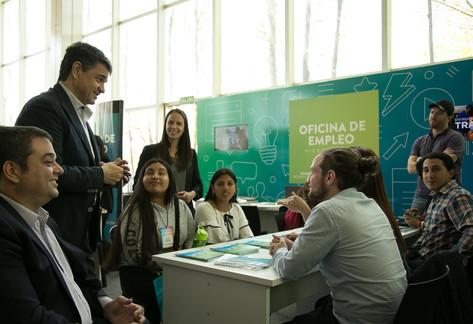 Jorge Macri y Soledad Martínez recibieron al ministro Triacca en la Expo Empleo de Vicente López
