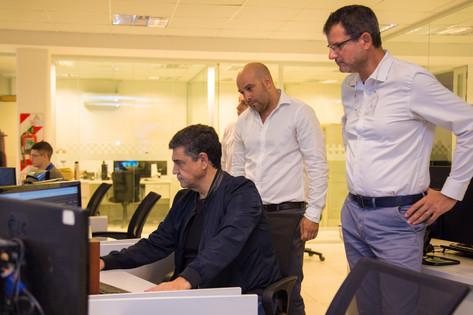 Jorge Macri visitó el centro de despacho unificado donde se atienden las urgencias por Coronavirus