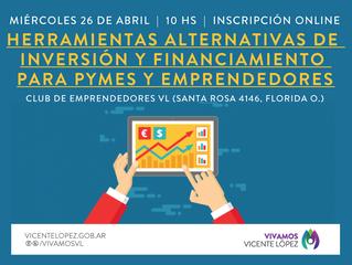 26/04   Herramientas alternativas de inversión y financiamiento para PYMES y emprendedores