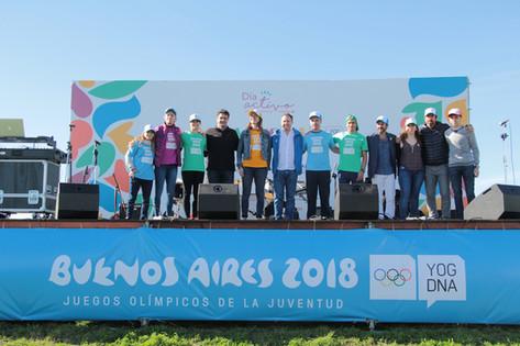 Jorge Macri y deportistas olímpicos promocionaron los Juegos Olímpicos de la Juventud 2018 en Vicent