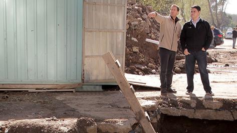 Jorge Macri y Soledad Martinez recorrieron una obra hidraúlica
