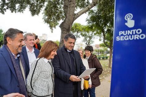Visitamos el Punto Seguro de Plaza La Paz con Patricia Bullrich