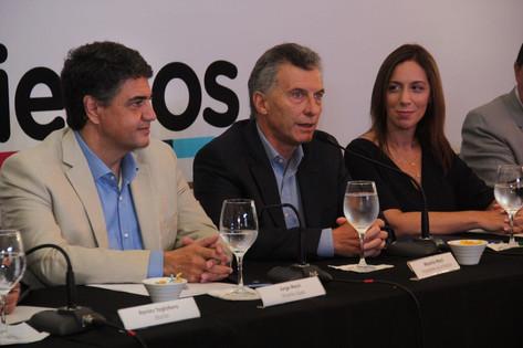 Fuerte apoyo del Presidente y la Gobernadora a Jorge Macri