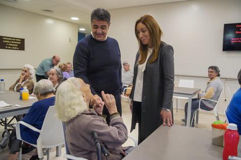 Visitamos el nuevo geriátrico municipal con María Eugenia Vidal