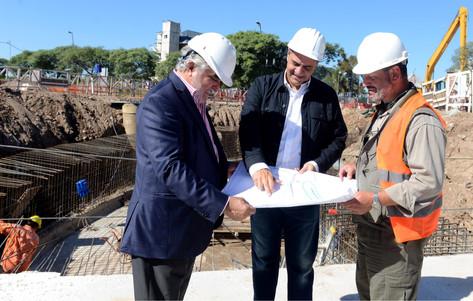 """Jorge Macri: """"Todas las obras hídricas que venimos haciendo han servido, y sus resultados ya se está"""