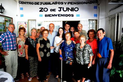 """Visita al centro de jubilados """"20 de junio"""" en Lanús junto al intendente Néstor Grindetti"""