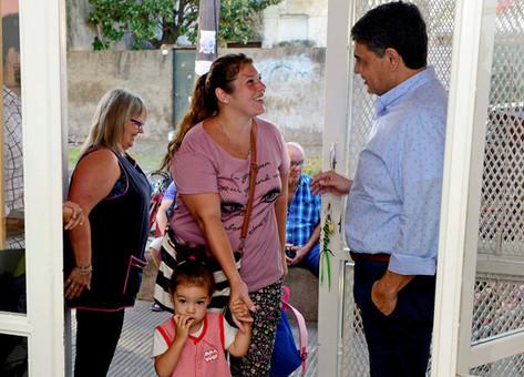 Jorge Macri, presente en el inicio del ciclo lectivo en el Jardín Maternal Nº6