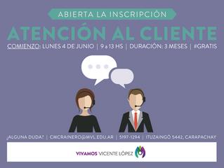 TALLERES - Atención al Cliente #CMCLRainero - Abierta la inscripción