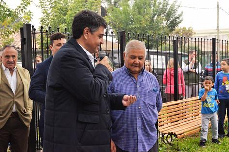 Jorge Macri inauguró la renovada plaza del barrio Las Flores
