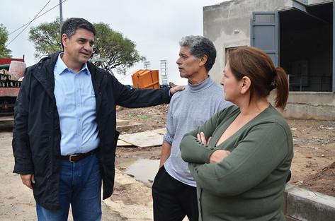 Jorge Macri recorrió la estación de bombeo y la nueva red vial del barrio El Ceibo