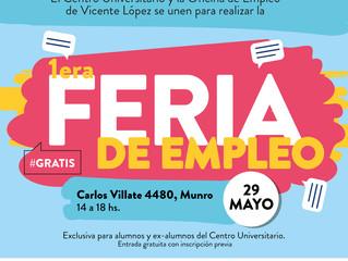 ¡Llega la 1er edición de la FERIA DE EMPLEO al Centro Universitario de Vicente López!