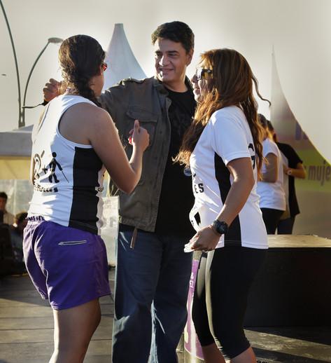 Jorge Macri presenció la 5K Maratón Mujeres