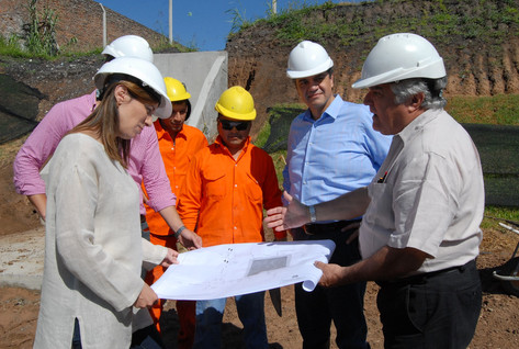 Jorge Macri y María Eugenia Vidal recorrieron las obras del retén hidráulico en Vicente López