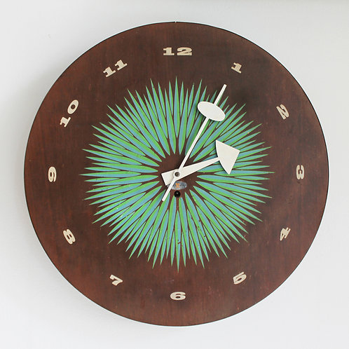 Vintage George Nelson Wall Clock for Howard Miller, 1957
