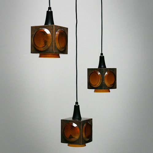 Three Pendant Lamps for Peill & Putzler
