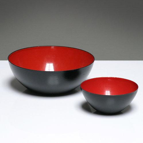 Pair of enameled Steel 'Krenit' Bowls by Krenchel for Torben Orskov