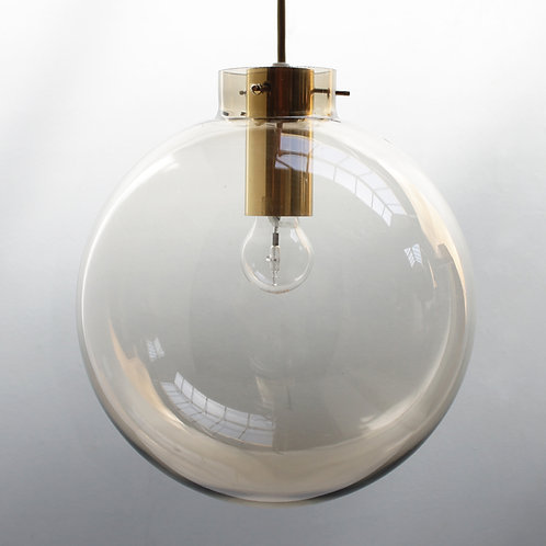Large Scandinavian Glass Sphere Pendant by Jonas Hidle for Høvik Lys