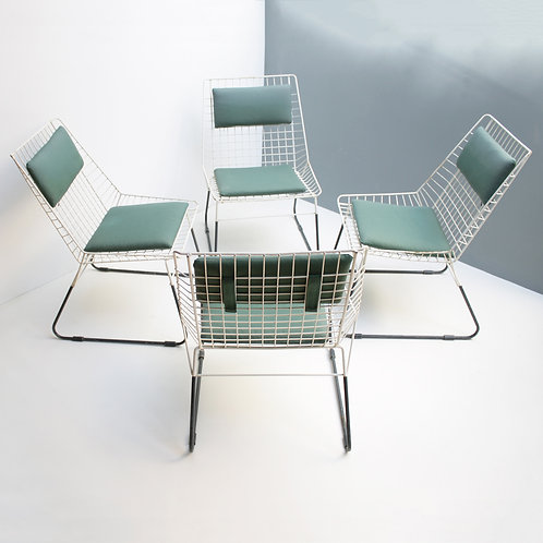 Set of 4 Flamingo Garden Chairs by Cees Braakman for Pastoe