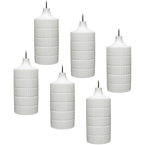 Six (6) Large Pendants by Peill & Putzler Germany