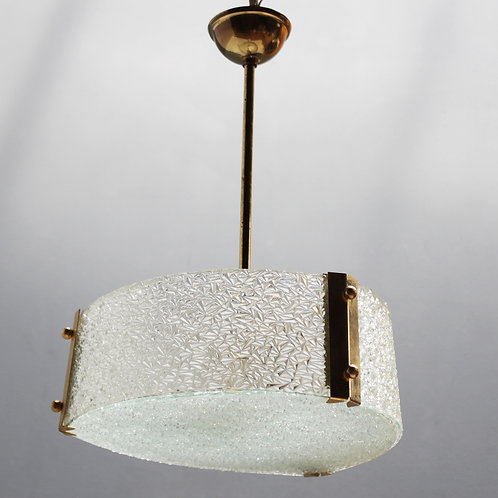 French Molded Glass Pendant