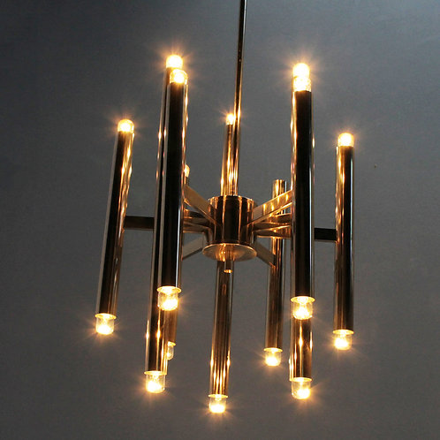 Nine-Arm Modernist Chandelier by Sciolari for Boulanger