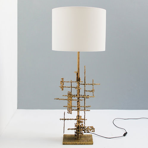 Brutalist Table Light by Marcello Fantoni Italy