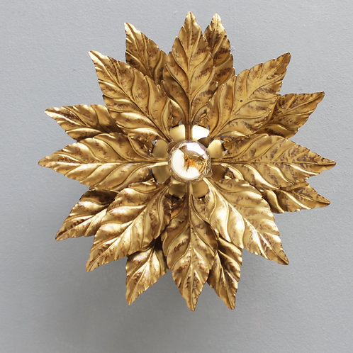 Floral Hollywood Regency Wall Light in the manner of Willy Daro
