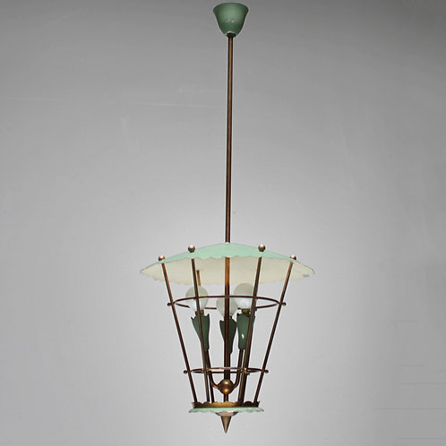 Italian lanternwith lamps in a Cage