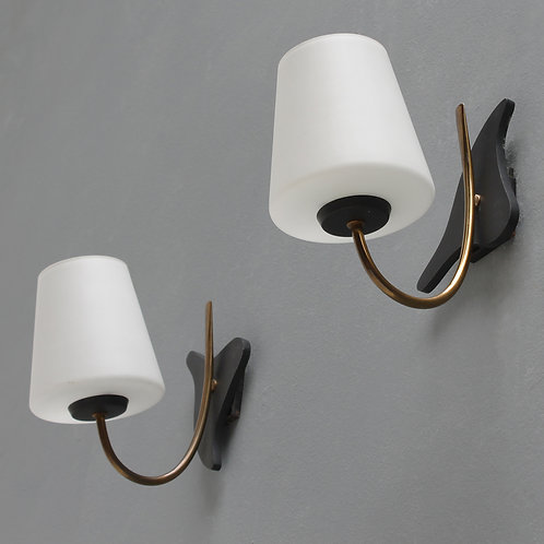 Pair of French Wall Lights by Maison Lunel