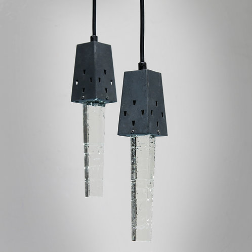 Pair of Icicle Lamps from Denmark