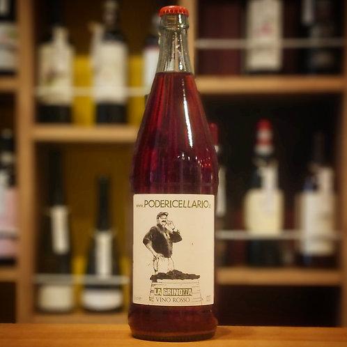 "Vino Rosso ""La Grinozza"" Pet Nat 1,000ml / Poderi Cellario  ヴィーノ ロッソ""ラ グリノッツァ"" ペット ナット1,000ml / ポデリ チェッラーリオ"
