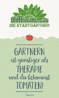 Saatgrüße Gärtnern ist günstiger als Therapie!