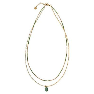 Rainbow Aventurin Gold Halskette