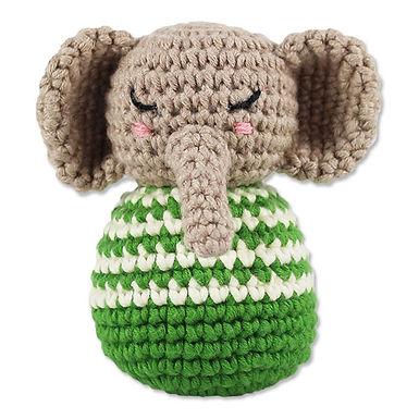 Häkelrassel Elefant grün