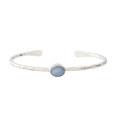 Moonlight Blue Lace Achat Silber Armband