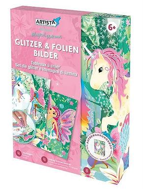 Glitzer & Folien Bilder Einhorn